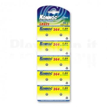 Batterie a bottone Alcalina LR60 LR621 364 AG1 (set 10 pz)