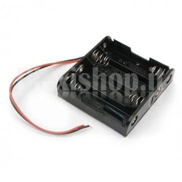 Portabatterie a 4 celle di tipo AA