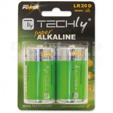 Blister 2 Batterie High Power Alcaline Torcia D LR20 1,5V