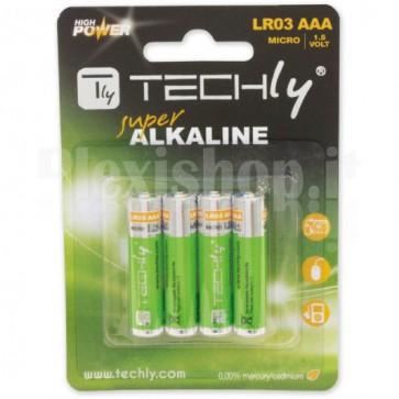 Blister 4 Batterie High Power Mini Stilo AAA Alcaline LR03 1.5V
