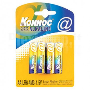 Blister 4 batterie stilo AA alcaline LR06