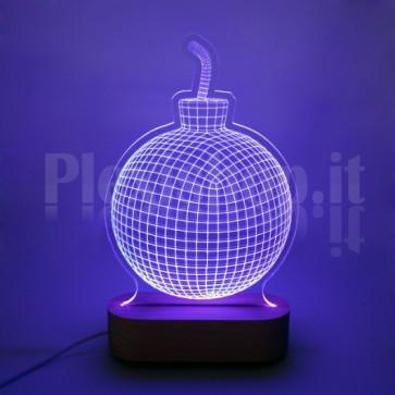 Lampada 3D Bomba RGB