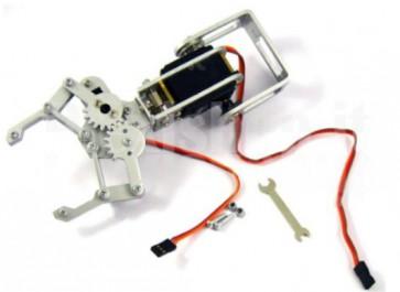 Braccio meccanico 2DOF con pinza per robot