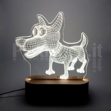 Lampada 3D Cane Funny Bianca