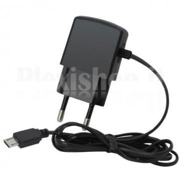 Caricabatterie Micro USB 100-240V 1A per Smartphone Nero