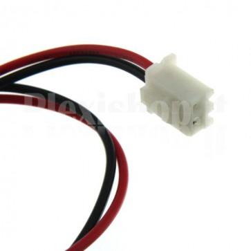 Cavetto bicolore terminato con connettore XH2.54‐2P, 2 contatti