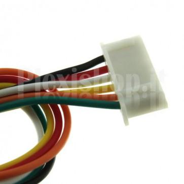 Cavetto multicolore terminato con connettore XH2.54‐6P, 6 contatti
