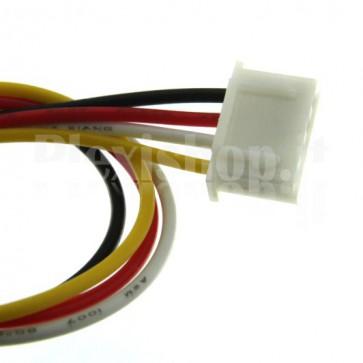 Cavetto bicolore terminato con connettore XH2.54‐4P, 4 contatti