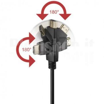 Cavo HDMI Highspeed con Ethernet A/A M/M Ruotabile