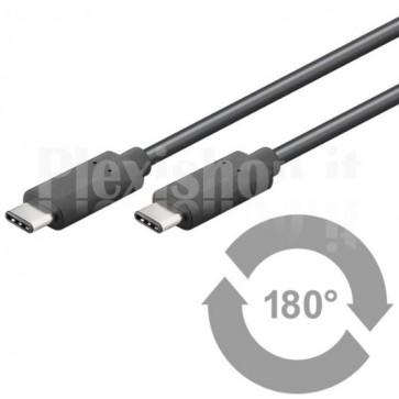 Cavo HiSpeed USB-C Maschio / USB-C Maschio 1m Nero