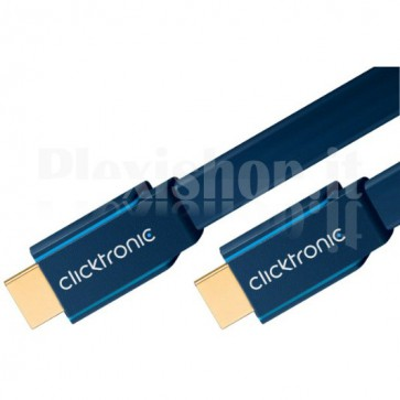 Cavo Piatto HDMI High Speed Ethernet A/A M/M 5 m Alta Qualità