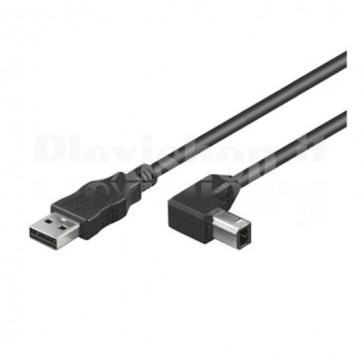 Cavo USB 2.0 A maschio/B maschio angolato