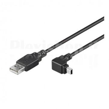 Cavo USB 2.0 A maschio/mini B maschio 90° 1,8 m Nero