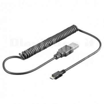 Cavo USB 2.0 Spiralato A maschio/microB 5 pin maschio
