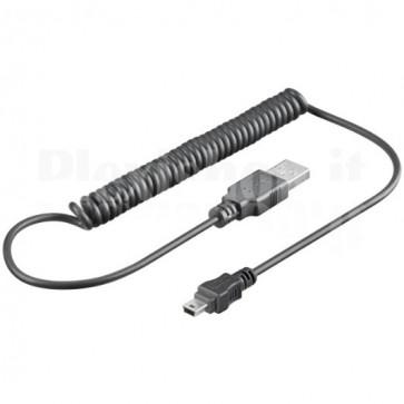 Cavo USB 2.0 Spiralato A maschio/mini B 5 pin maschio