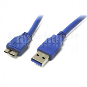 Cavo USB 3.0 A maschio/MIC B maschio 1 m FLAT