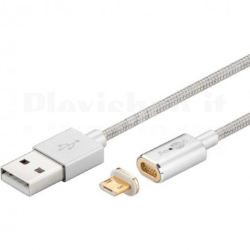 Cavo USB A / Micro B Magnetico 1.2m Silver