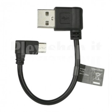 Cavo USB Angolato A Maschio / Micro B Maschio 0,12 cm