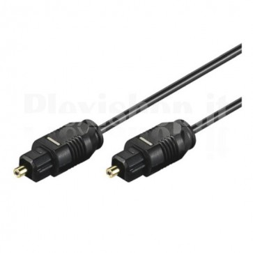 Cavo audio ottico digitale Toslink (SPDIF) 2m diametro 2.2 mm