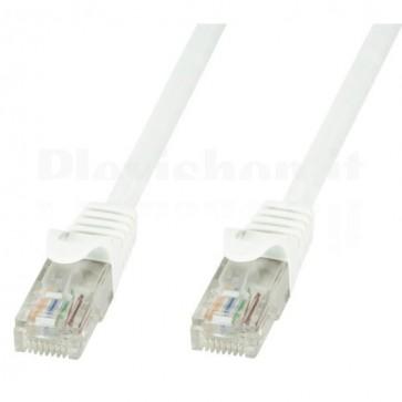 Cavo di rete Patch in CCA Cat.5E Bianco UTP 0,5m