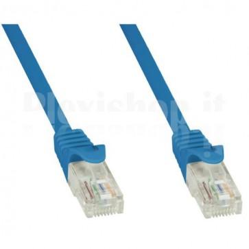 Cavo di rete Patch in CCA Cat.5E Blu UTP 10m