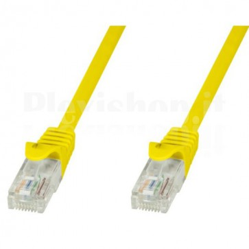 Cavo di rete Patch in CCA Cat.5E Giallo UTP 5m