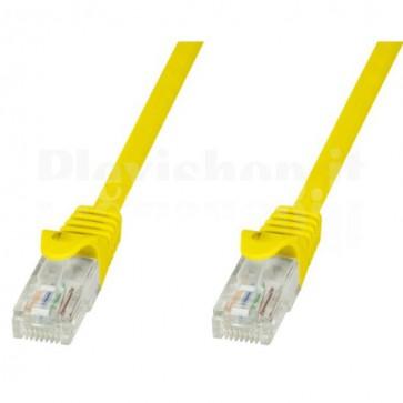 Cavo di rete Patch in CCA Cat.5E Giallo UTP 1m