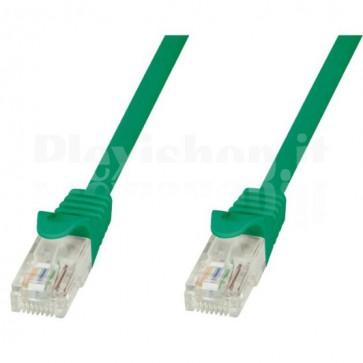 Cavo di rete Patch in CCA Cat.5E Verde UTP 0,5m