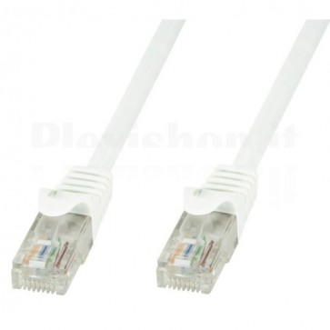 Cavo di rete Patch in CCA Cat.6 Bianco UTP 0,5m