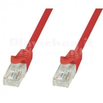 Cavo di rete Patch in CCA Cat.6 Rosso UTP 0,5m