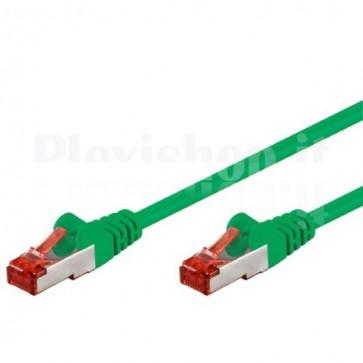 Cavo di rete Patch in CCA Schermato Cat. 6 Verde F/UTP 0,5 m Bulk