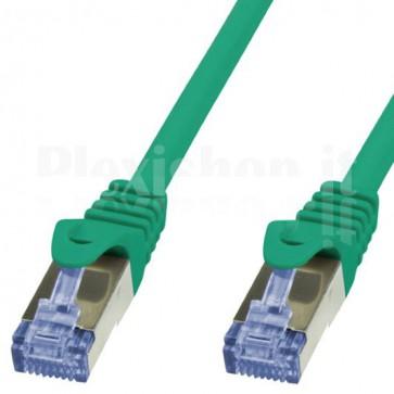 Cavo di rete Patch in Rame Cat. 6A Verde SFTP 2m