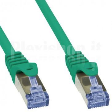 Cavo di rete Patch in Rame Cat. 6A Verde SFTP 0,5m