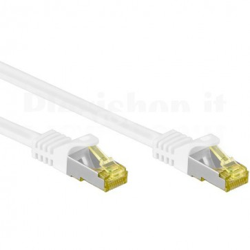 Cavo Patch Cat.7 Plug RJ45 6A S/FTP LSZH 3m Bianco