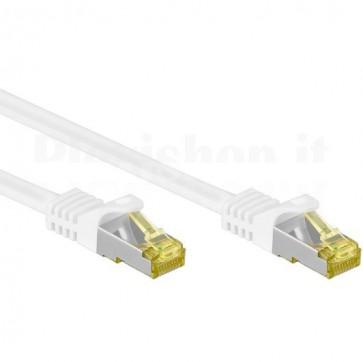 Cavo Patch Cat.7 Plug RJ45 6A S/FTP LSZH 3m Bianco
