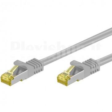 Cavo Patch Cat.7 Plug RJ45 6A S/FTP LSZH 0,5m Grigio