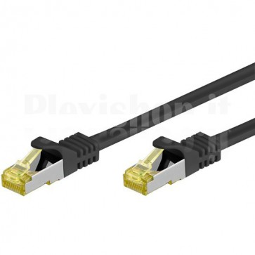 Cavo Patch Cat.7 Plug RJ45 6A S/FTP LSZH 1m Nero