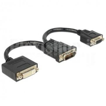 Cavo Sdoppiatore DMS59 a DVI e VGA 20cm Nero