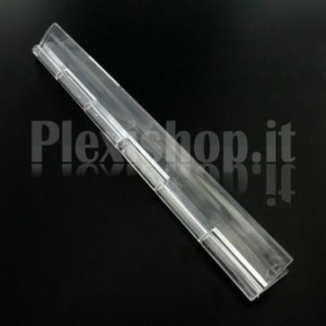 Cerniera trasparente in Plexiglass 200x42mm