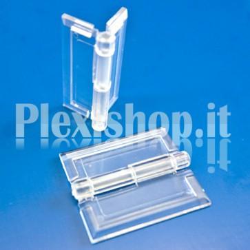 Cerniera piccola trasparente in Plexiglass