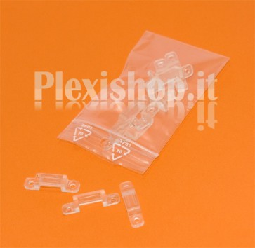 Clips in PVC per Strisce led fino a 12 mm