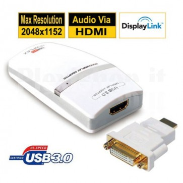 Convertitore Video/Audio da USB 3.0 a HDMI/DVI
