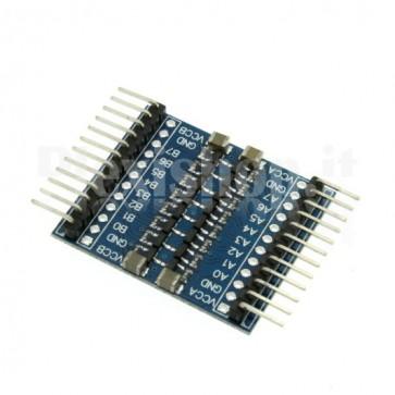 Convertitore bidirezionale di livelli logici I2C a 8 canali, 3.3 - 5Vcc