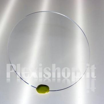 Disco plexiglass trasparente Ø 34 mm