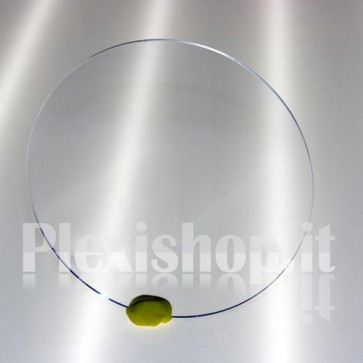 Disco plexiglass trasparente Ø 234 mm