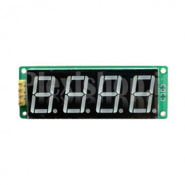 Display a 4 digit e 8 segmenti I2C, colore verde