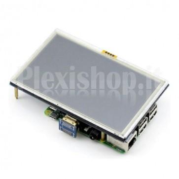 """Display touch screen 5"""" ad alta risoluzione per Raspberry Pi"""