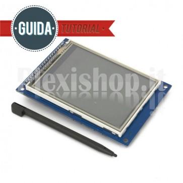 "Display Touchscreen LCD 3.2"" TFT01 compatibile con Arduino"