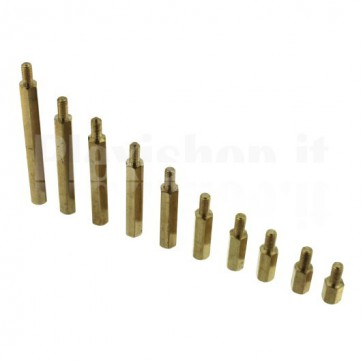 Distanziale metallico esagonale da 8mm