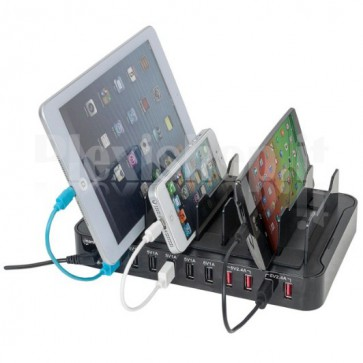Docking Station 10 porte USB Ricarica Smartphone e Tablet